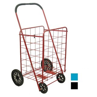 Large Steel Shopping Cart with Rubber Wheels