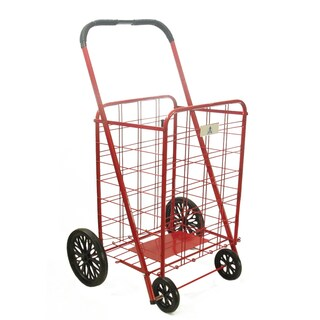 Extra Large Heavy-duty Shopping Cart (Option: Red)