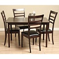 Crystal 5-piece Wood and Leather Dining Furniture Set