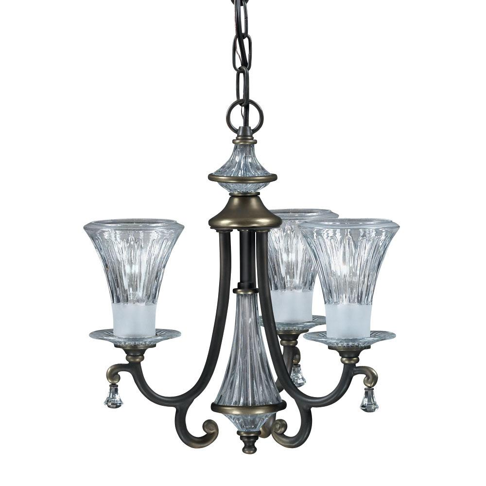 Olde Bronze 3-light Chandelier