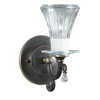 Colored glass wall lights for less overstock olde bronze wall sconce teraionfo