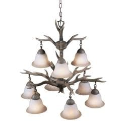 Aztec Lighting Buckhorn 9-light Chandelier - Thumbnail 1