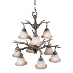Aztec Lighting Buckhorn 9-light Chandelier - Thumbnail 2