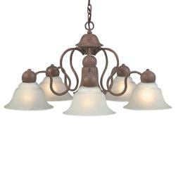Olde Brick 6-light Chandelier - Thumbnail 1