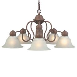 Olde Brick 6-light Chandelier - Thumbnail 2
