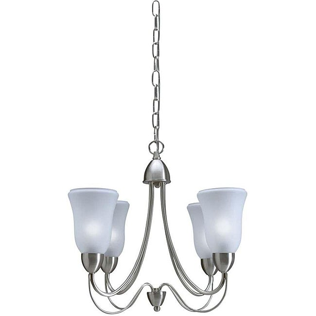 Cosmopolitan Brushed Nickel 4-light Chandelier