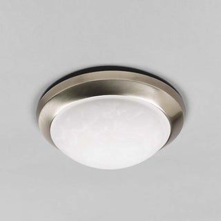 Round 14-inch Brushed Nickel Ceiling Fixture