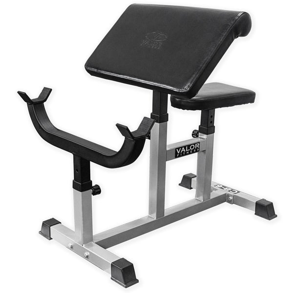 Shop Valor Fitness Cb 6 Adjustable Preacher Curl Bench For Bicep Curl Support Meant For Curling