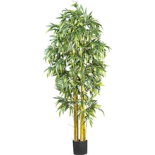 Silk Biggy Style Bamboo 6-foot Tree - Green