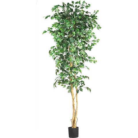 Nearly Natural Green Silk 7-foot Artifical Ficus Tree