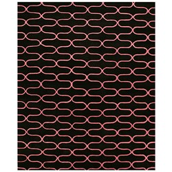 Hand-tufted Wool Black Kurt Rug (5' x 8') - Thumbnail 0