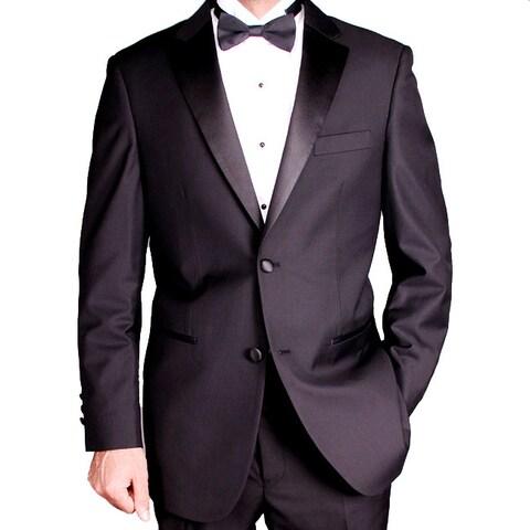 Men's 2-button Black Tuxedo 38S / 32 W(As Is Item)