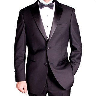 Men's 2-button Black Tuxedo (Option: 42l)