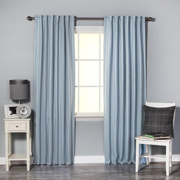 Aurora Home Hotel Stripe 84 Inch Insulated Blackout Curtains 52 X