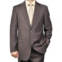 Men's Brown 2-button Suit