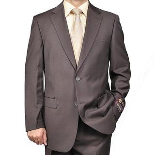 Men's Brown 2-button Suit
