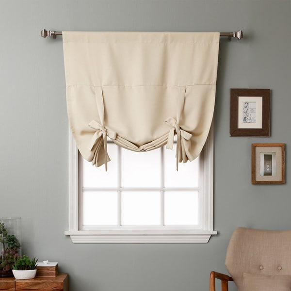 Aurora Home Solid Insulated 63-inch Blackout Tie Up Shade - 42 x 63