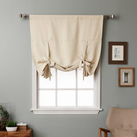 Aurora Home Solid Insulated 63-inch Blackout Tie Up Shade