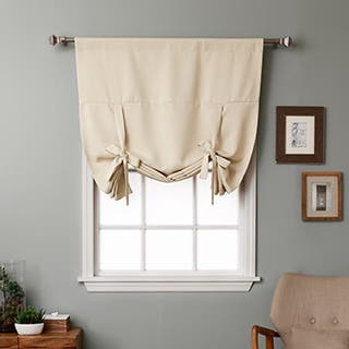 Aurora Home Solid Insulated 63-inch Blackout Tie Up Shade - 42 x 63|https://ak1.ostkcdn.com/images/products/3245240/P11354412.jpg?impolicy=medium