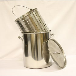 Stainless Steel 36-quart Stockpot and Boiler Basket