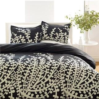 City Scene Branches Black 3-piece Comforter Set