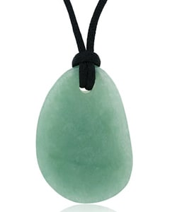 Glitzy Rocks Aventurine Pendant with Black Silk Cord