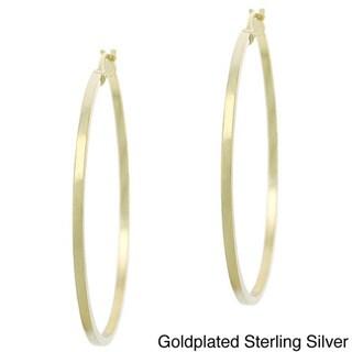 Mondevio 18k Goldplated Sterling Silver 35mm Hoop Earrings