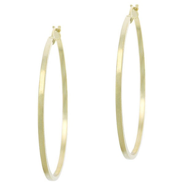 0193e8c03 Shop Mondevio Goldplated Sterling Silver 35Mm Hoop Earrings - On ...