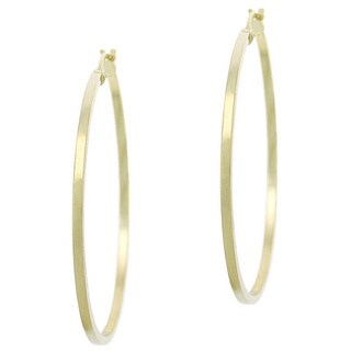 Mondevio Goldplated Sterling Silver 35Mm Hoop Earrings