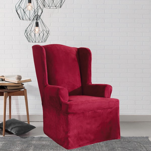 Sure Fit Soft Suede Wing Chair Slipcover. Opens flyout.