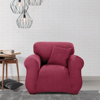 Sure Fit Stretch Suede Chair Slipcover