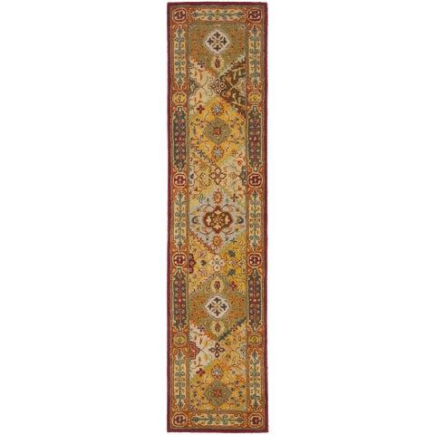 """Safavieh Handmade Heritage Traditional Bakhtiari Multi/ Red Wool Runner (2'3 x 14') - 2'3"""" x 14'"""