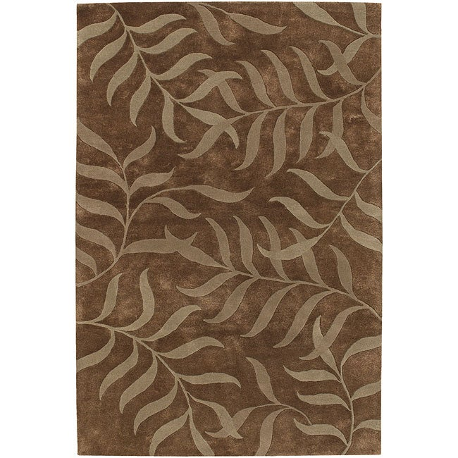 "Artist's Loom Hand-tufted Transitional Floral Rug - 7'9"" x 10'6"""