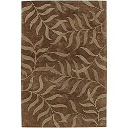 """Artist's Loom Hand-tufted Transitional Floral Rug (7'9 x 10'6) - 7'9"""" x 10'6"""" - Thumbnail 0"""