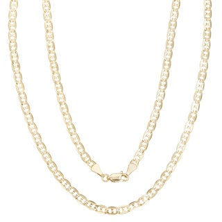 Simon Frank 14k Gold Overlay 4mm Gucci-style Necklace (20-30 inch)