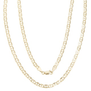 Simon Frank 14k Gold Overlay 4mm Gucci-style Necklace (20-30 inch) (Option: 20 Inch)