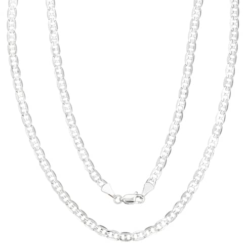 """4mm Silver Overlay Mariner Chain by Simon Frank Designs (18""""-30"""")"""