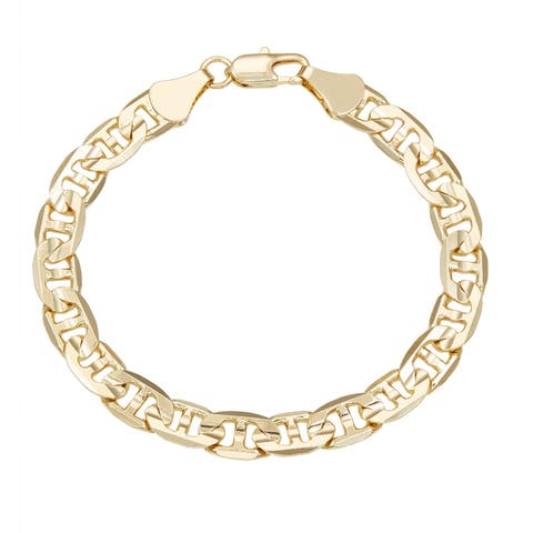 Simon Frank Yellow Gold Overlay 8-inch Gucci-style Bracelet 8mm