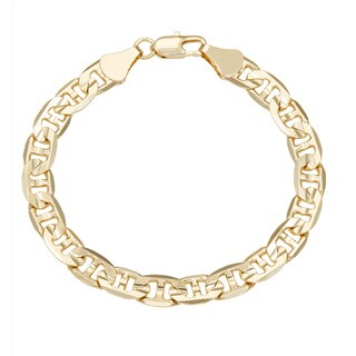 Simon Frank Gold Overlay 8-inch Gucci-style Bracelet 8mm