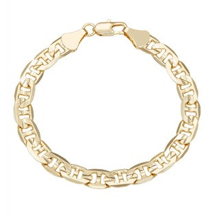 Link to Simon Frank Yellow Gold Overlay 8-inch Gucci-style Bracelet 8mm Similar Items in Bracelets