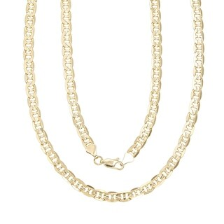Simon Frank Gold Overlay 8mm Gucci-style Necklace (30-inch)