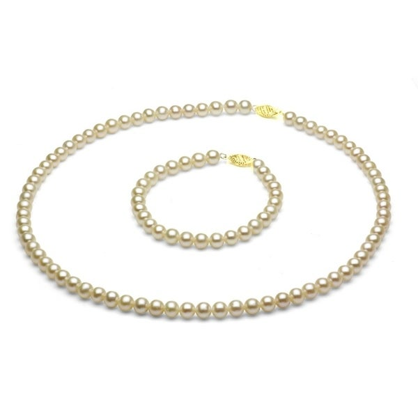 Davonna Children X27 S 14k Gold 4 5mm Whtie Freshwater Pearl Necklace And