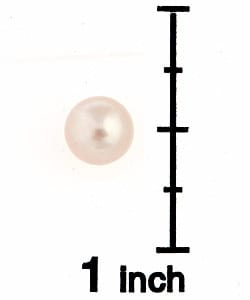 DaVonna 14k Gold Pink Perfect Round Akoya Pearl Stud Earrings (7 mm )(Case of 5) - Thumbnail 2