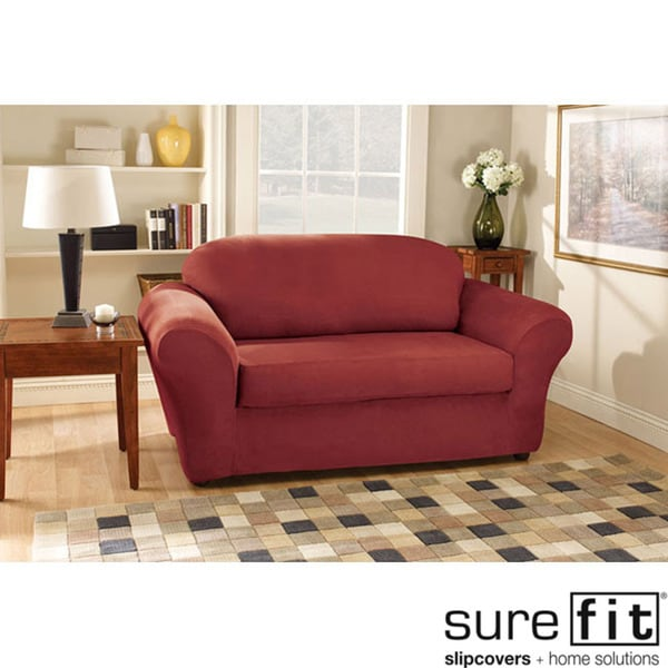 Sure Fit Stretch Suede Sofa Slipcover - 11358356 ...
