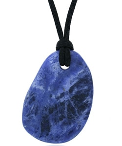 Glitzy Rocks Sterling Silver Sodalite Stone Necklace
