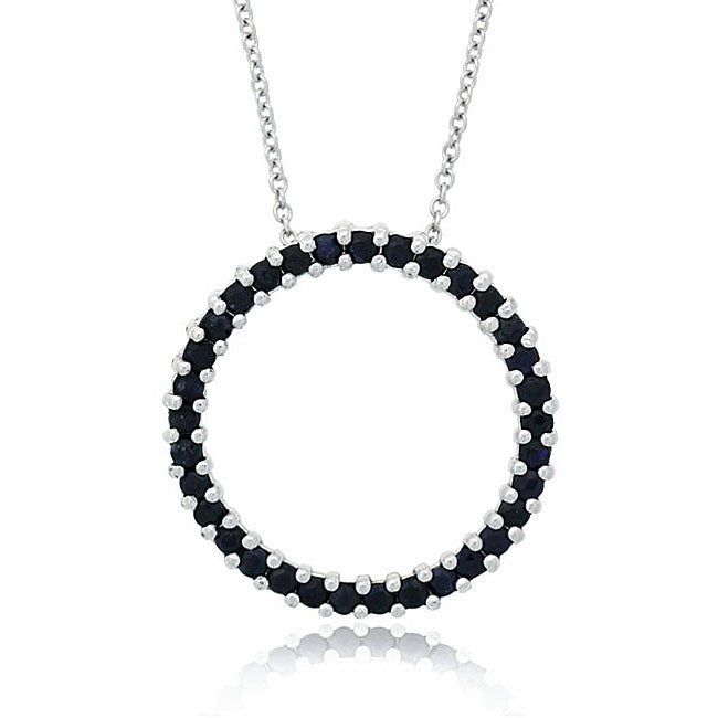 Glitzy rocks sterling silver sapphire circle necklace free glitzy rocks sterling silver sapphire circle necklace mozeypictures Gallery