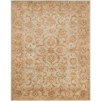 "Safavieh Handmade Heritage Timeless Traditional Green/ Gold Wool Rug - 9'6"" x 13'6"""