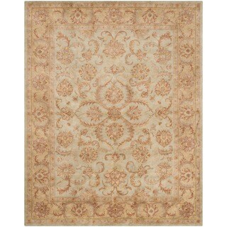 Safavieh Handmade Heritage Timeless Traditional Green/ Gold Wool Rug (9'6 x 13'6)