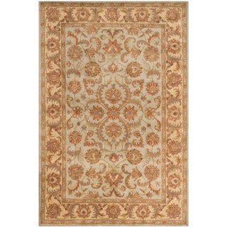 Safavieh Handmade Heritage Timeless Traditional Green/ Gold Wool Rug (6' x 9')