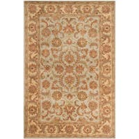 Safavieh Handmade Heritage Timeless Traditional Green/ Gold Wool Rug - 6' x 9'